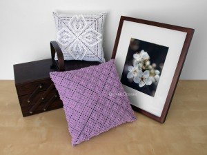 Pillow Display – Dogwood & Calico Patterns