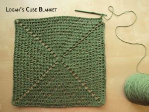 Blanket Projects – Logan's Cube Blanket, Day 2