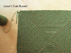 Blanket Projects – Logan's Cube Blanket, Day 4