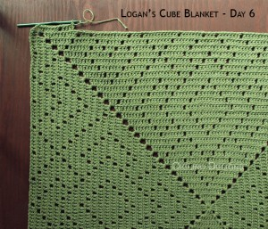 Blanket Projects – Logan's Cube Blanket, Day 6