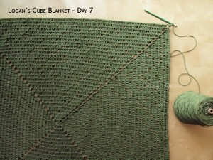 Blanket Projects – Logan's Cube Blanket, Day 7