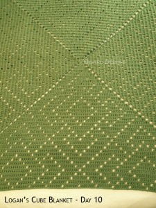 Blanket Projects – Logan's Cube Blanket, Day 10