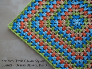 Blanket Projects – Koelewyn Twins Granny Square Blanket, Day 3