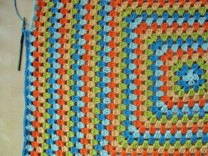 Blanket Projects – Koelewyn Twins Granny Square Blanket, Day 7