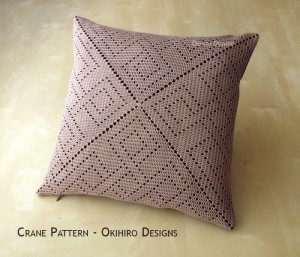Crane Pattern Pillowcase