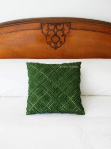 Windowpane Tartan Pattern Pillow